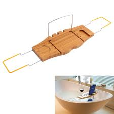 Bamboo Bathtub Caddy With Reading Rack by Bathroom Bamboo Bathtub Rack Bath Caddy Wine Glass Holder Tray