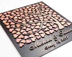 Wedding Guest Book Alternative 3D Rustic Guestbook Unique