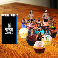 Wwe Raw Cake Decorations by Cupcake Toppers Wwe Cupcake Toppers Wrestling Wwe