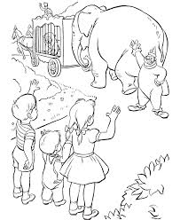 Circus Animal Coloring Pages For Kids