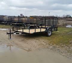 65 X 12 AMO Low Side Landscape Trailer