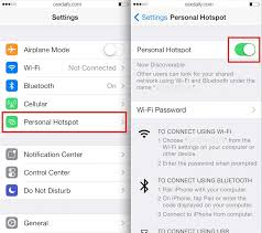 How to Use Personal Hotspot on iPhone iPad to Its Internet