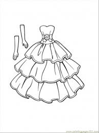 Coloringpages101 Coloring Pages Clothing Thisdressgoeswithgloves Aoout Wedding PagesColoring For