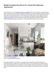 100 Small One Bedroom Apartments Bright Scandinavian Decor In 3 By