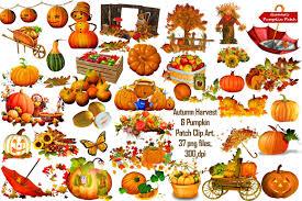 Caledonia Pumpkin Patch by Autumn Harvest U0026 Pumpkin Patch Illustrations Creative Market