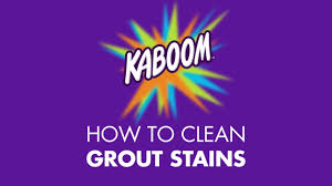 how to clean grout stains with kaboom