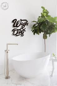 waschen trocknen metall buchstaben wand kunst badezimmer wandkunst home decor wandbehang bauernhaus dekor housewarming geschenk minimalistische