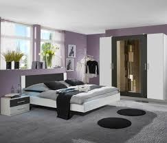 wimex nora 4 teilig schlafzimmer set weiß anthrazit 727323
