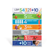 Live 54321 10R For Kids Poster