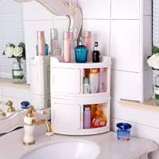 baoyouni 2 schicht stapelbare aufbewahrungsbox plastik aufbewahrungsboxen mit deckel eckaufbewahrungsbox für badezimmer küche schlafzimmer wc 49
