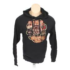 100 Independent Trucks Hoodie Trading Company Mens Size S Black Cotton