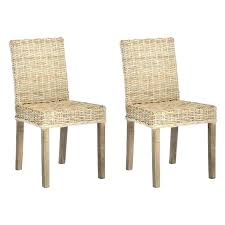 Lovely Gray Rattan Dining Chair Medium Image For Rattan Furniture