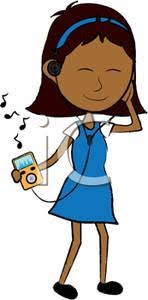 Listening To Ipod Clipart