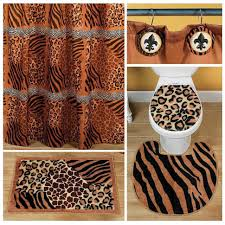 bathroom safari leopard print bathroom stripes animal bath