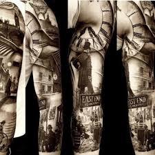 Black And Grey Realism 3 4 Sleeve Tattoo Done By Matteo Pasqualin Porto Viro IT