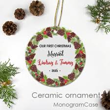 Personalized Christmas Ornament Custom Name Gift MonogramCase