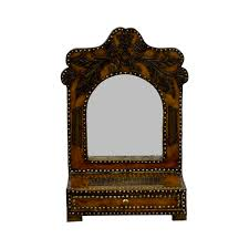 90% OFF - Southwestern Leather Studded Mirror / Decor