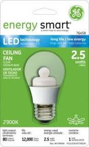 light bulb ceiling fan led light bulbs the wattage in any one