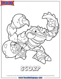 Skylanders Swap Force Scorp Coloring Page