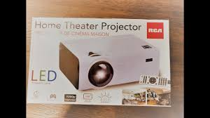 100 Bright Home Theater RCA Projector Unboxing 4K Video Part 1