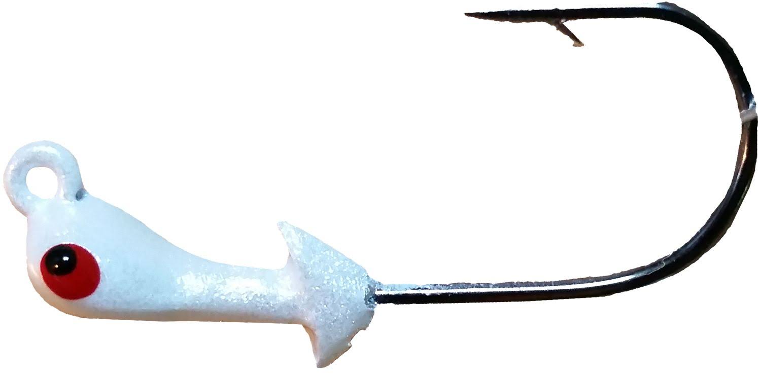 Mission Fishin Double Barbed Jig Head, White