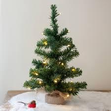 Pre Lit Christmas Tree No Lights Working by Pre Lit Battery Mini Christmas Tree With Jute Bag Lights4fun Co Uk