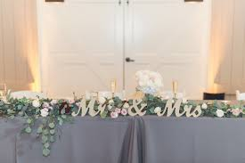 Mr And Mrs Head Table Decor
