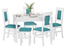gepolsterter massivholz stuhl küchenstuhl esszimmerstuhl in der farbe türkis v 90 71 25wp17