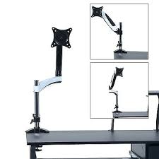 desk dual monitor stands for desk desk mount lcd and monitor