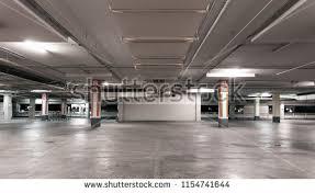 Empty Modern Car Parking Garage Interior Background 1154741644