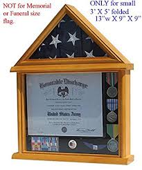 Small 3x5 Flag Display Case Stand NOT For Memorial Or Funeral