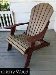 fan back amish all weather poly adirondack chair cherry wood