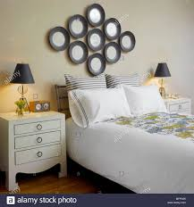 100 New York Style Bedroom Lamp On Chest Of Drawers Beside Double Bed In Traditional Style