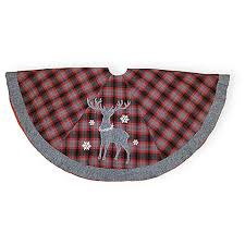 Boston International 56 Inch Flannel Deer Christmas Tree Skirt