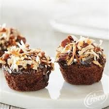 German Chocolate Brownie Bites from Crisco