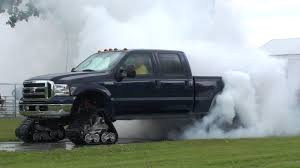100 Truck Tracks VIDEO Ford F350 Uses Tracks Not Tires To Spin A Big Burnout