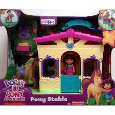 Dora Kitchen Play Set Walmart by Fisher Price Dora The Explorer Pony Stable With Horse U0026 Dora