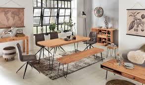 wohnling esszimmer sitzbank bagli massiv holz akazie 160 x 45 x 40 cm
