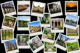 Download Mosaic Collage Mix Travel With Pictures Of Different Places Landscapes And Objects Shot By