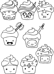 28 Collection Of Kawaii Cupcake Coloring Pages