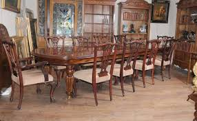 Ethan Allen Mahogany Dining Room Table by Victorian Dining Table Set Chippendale Chairs Set Suite Mahogany