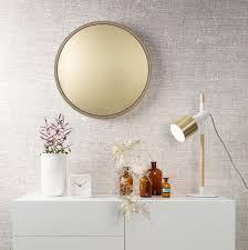 single fawn library wandspiegel rund spiegelglas wandspiegel