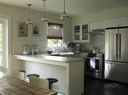 kitchen peninsula with pendant lighting ideas kutsko kitchen