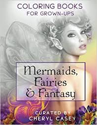 Mermaids Fairies Fantasy Grayscale Coloring Book For Grownups Adults Wingfeather Books Volume 4