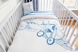 Bacati Crib Bedding by Atelier ëdele Biplane Organic Baby Down Duvet 4 Piece Crib Bedding