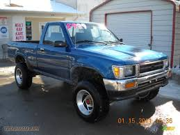 1993 Toyota Pickup Deluxe Regular Cab 4x4 In Blue Pearl Metallic ... Used 1993 Toyota Truck 4x4 For Sale Northwest Motsport File93t100sideviewjpg Wikimedia Commons Car 22r Nicaragua Toyota 22r 1994 Pickup Building A Religion Custom Trucks T100 Wikipedia Information And Photos Zombiedrive Wikiwand Hilux 24d Single Cab Amazing Cdition One Owner From These Are The 15 Greatest Toyotas Ever Built
