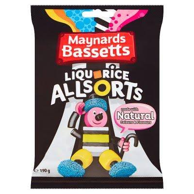 Maynards Bassetts Liquorice Allsorts Sweets Bag - 190g