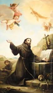francis of assisi receiving the stigmata by mariano salvador