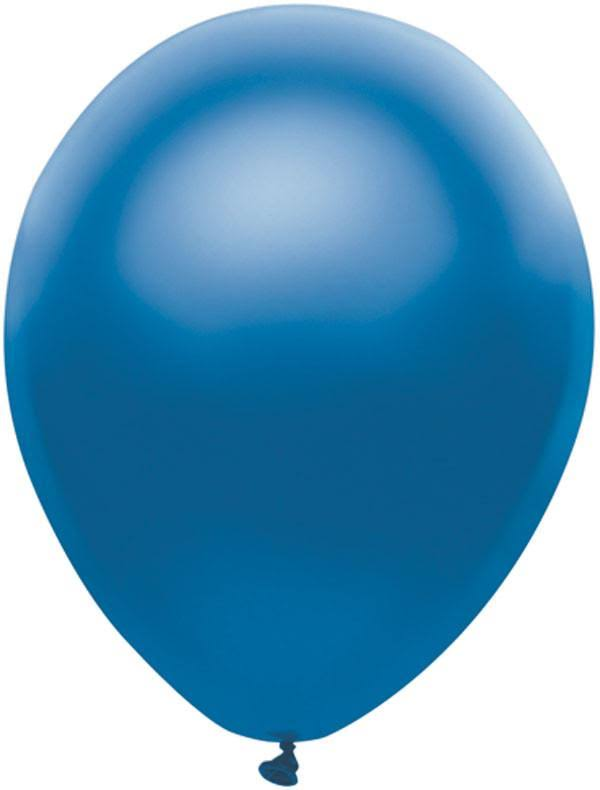 PartyMate 12507 Solid Color Latex Balloons - Royal Blue