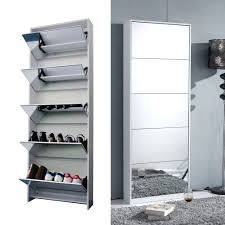 Baxton Simms Shoe Cabinet by Amazon Com Organizedlife White Wooden Shoe Cabinet Mirror Shoe